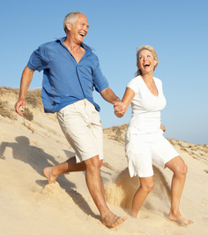 healthy older couple Considering Total Body Health